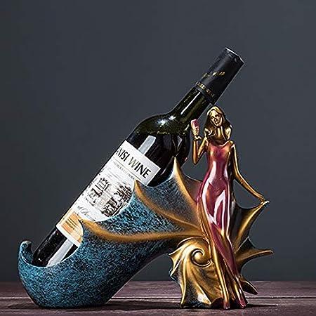HCYSNG Práctico Estante para Botellas de Vino Vinoteca de pie Soporte para Botella de Vino de pie Independiente (Color : Female Snail Purple)
