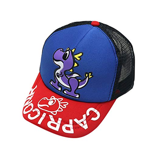 Outique Kids Hat,Baseball Cap Sun Hat Beret Baby Boy Hat Letter Soft Cotton Dinosaur Sunhat Eaves Blue