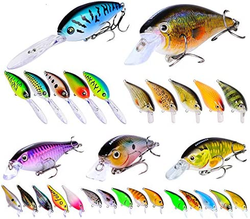 釣りルアー 淡水と海水が餌シャープ釣りと耐久性の両方のために魚グレート種類に適した60個 釣り餌 (Color : Multi-colored, Size : Free Size)
