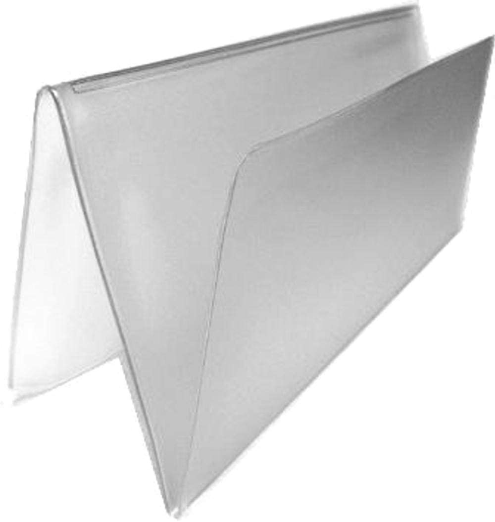 Set of 2 Clear Checkbook Protector Divider Inserts for Duplicate Checks