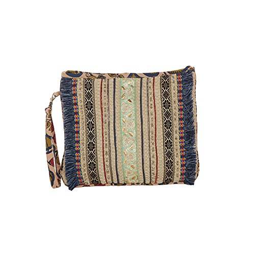 Catalog Classics Women's Kolkata Clutch Purse - Embellished Zip Top Hand Bag