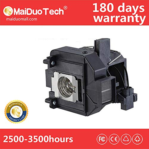 MaiDuoTech Replacement Compatible Projector Lamp Bulb for Epson V13H010L60/ELPLP60 with Housing for Home Cinema 9395 96W 905 92 Projector.