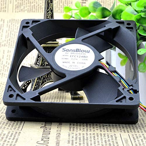 for delta EFC1248D 12025 48V 0.21A 4 wire PWM fan For Huawei switches