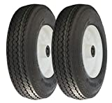 MARASTAR 80151-LS-2PK Trailer Log Splitter Replacement Tire Assembly, 2 Pack