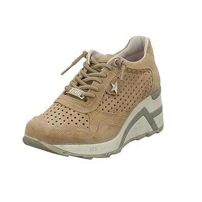 7a75968a835238 Cetti Damen Sneaker Sneaker mit Perforation C1143-SRA-nude beige 599147