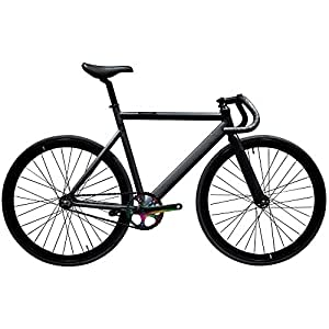 State Bicycle Black Label 6061 Aluminum Fixed Gear Bike, 49cm/X-Small, Galaxy