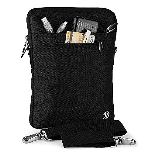 VG Black Shoulder Strap Tablet Bag Sleeve Zipper Carrying Case Pouch for Dell Venue 10 Pro / HP 10 G2 Tablet / HP Pavilion 10 x2 10.1 / Google Pixel C 10.2 -  Eccris, DSZJA_RDYLEA481