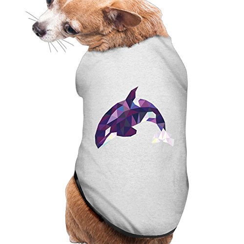Orca Whale Dog Costume (Puppy Pet Dog Cat Fashion 100% Polyester Fiber Wpap Triangle Orca Whale Summer Costumes, Clothing, Shirt, Vest, T-shirt, Tee Gift For Any Animal Fan Lovers Ash Large)