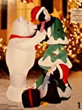 Christmas Polar Bear and Penguins Decorating The Christmas Tree 5 Ft. Airblown Inflatable