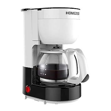 Tipo máquina de goteo doméstica americana automática del café del hogar, pote de cristal resistente de alta temperatura (Color : Blanco): Amazon.es: Hogar
