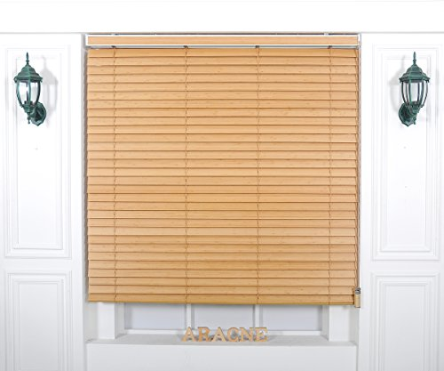 [Winsharp Wood Bamboo , bamboo_5003, W 53 x H 82 (Inch)] Horizontal Window Real Wood(Bamboo) Blinds & Treatments , Maximum 95 Inch Wide by 103 Inch Long (Blinds Graber Pleated Shades)