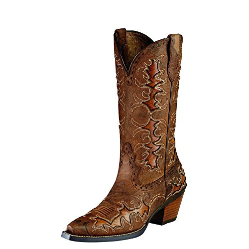Ariat Women's Dandy Western Fashion Boot, Sassy Brown/ Sand