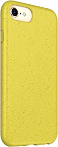Diaxbest Silicone Case Compatible with iPhone Xs/X, Eco-Friendly Natural Wheat Straw + TPU Full Body Protective Cover Non-Slip Soft Rubber Matte Grip Case for iPhone Xs/X (Yellow)