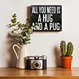 JennyGems Wooden Sign All You Need is A Hug and A