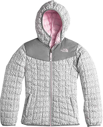 The North Face Kids Girl's Reversible Thermoball Hoodie (Little Kids/Big Kids) TNF White Lace Print (Prior Season) X-Large