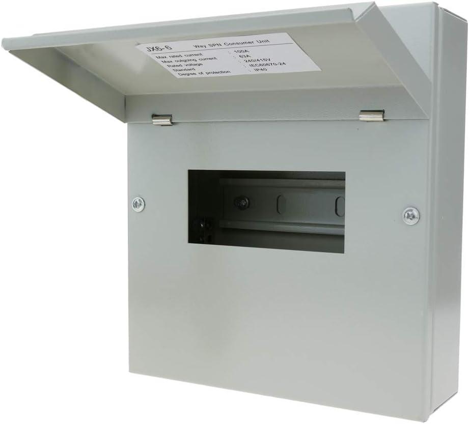 BeMatik - Caja de distribución eléctrica de 6 módulos 17.5 mm IP40 ...