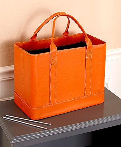 The Lakeside Collection Chic File Organizers, Orange, 14