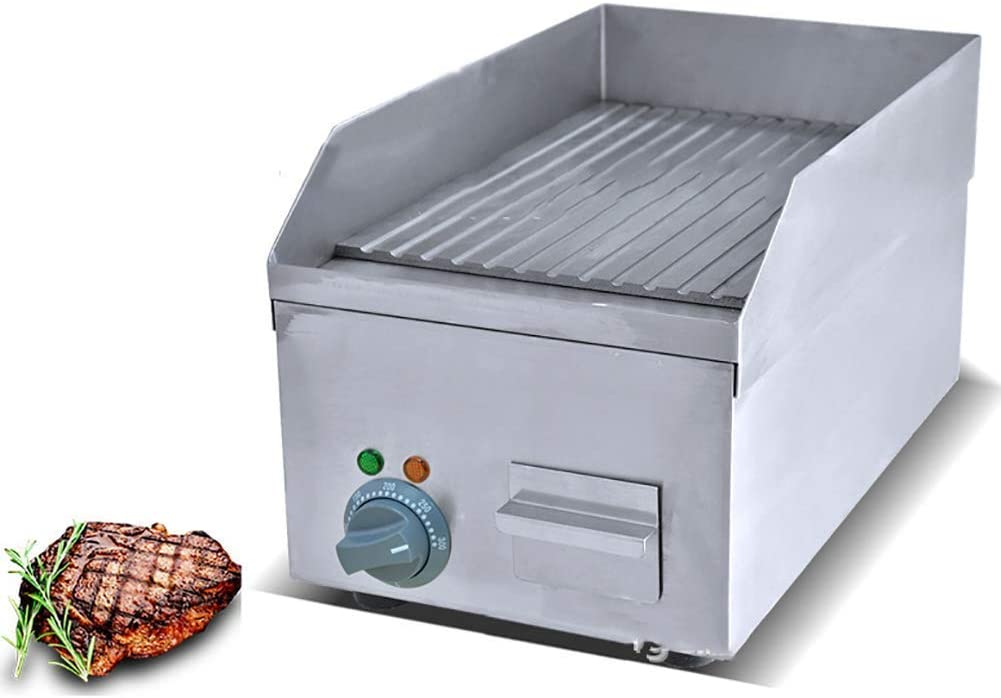 ZLJ Air Fryer Commercial Electric Griddle Hot Plate Hamburger Bacon Eggs Deep Fryer Cooking Area Worktop Stainless Steel Cooker BBQ S