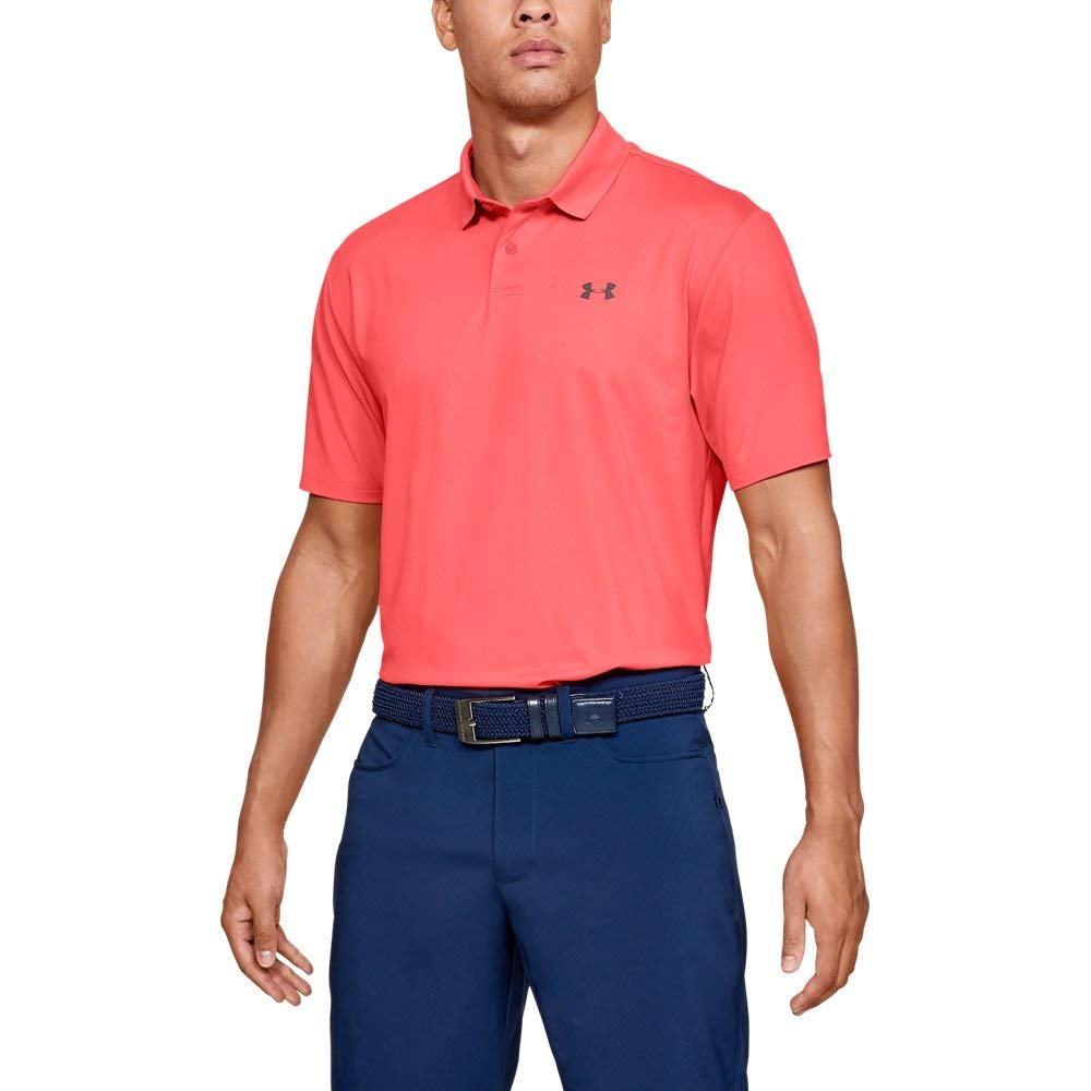 Under Armour Men's Performance Polo 2.0, Blitz Red//Pitch Gray, 3X-Large