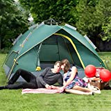 Waterproof Camping Tent for 3 Person with Easy Instant Pop Up Tent Automatic Hydraulic Rainproof Tent with Rain Fly - 86.61 x 78.74 x 53.15in