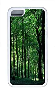 Lmf DIY phone caseGreen Forest Tree Custom iphone 5/5s Case Cover TPU WhiteLmf DIY phone case