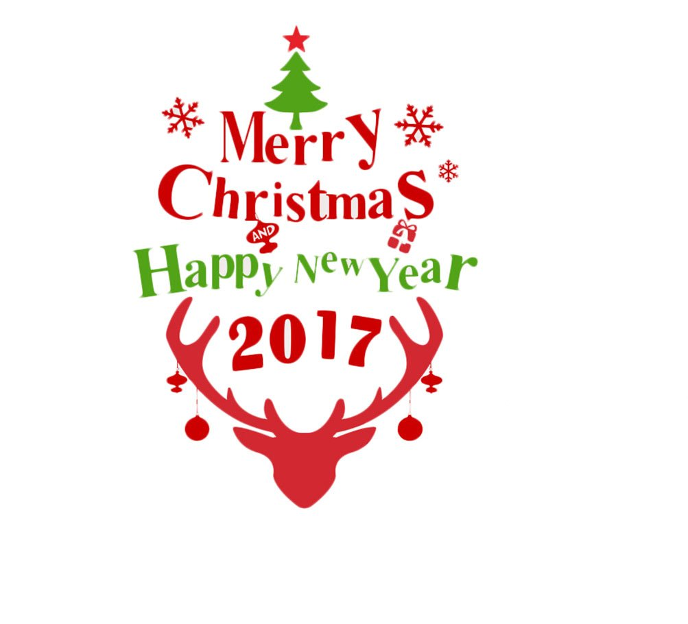Rain's Pan Cartoon Merry Christmas Santa Claus Decorations Decal Window Stickers by Rain's Pan Decals (Image #1)