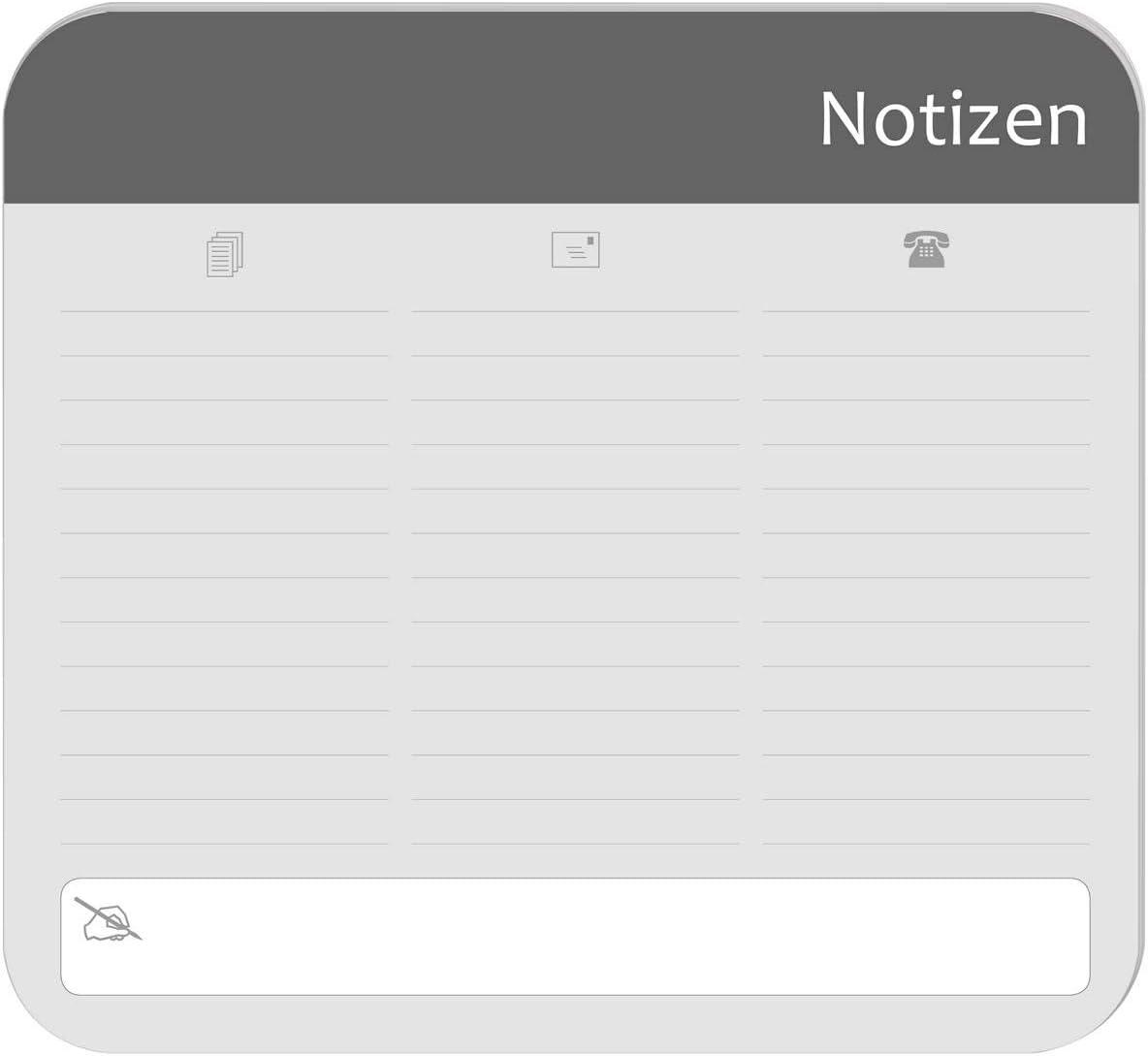Mousepad Notizblock Mauspad Größe Ca 24x22cm 30 Blatt