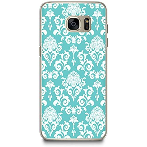 Case for Samsung S7, CasesByLorraine Damask Turquoise Elegant Vintage Pattern Case Plastic Hard Cover for Samsung Sales