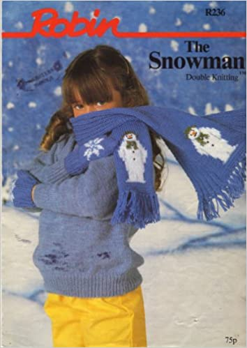 Robin Childrens The Snowman Motif Scarf And Snowflake Motif Mittens