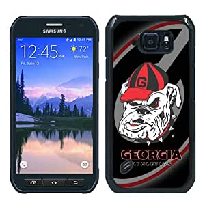 WOSN Southeastern Conference SEC Football Georgia Bulldogs 3 Black Case Cover for Samsung Galaxy S6 Active