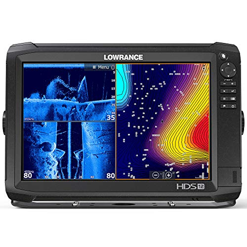 Lowrance Hds-12 Carbon Fishfinder Chartplotter W/Structurescan 3D Transducer ()