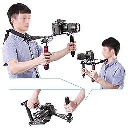 Neewer Foldable DSLR Rig Movie Kit Film Making System Shoulder Rig Mount / Shoulder Support Pad for Digital SLR Camera and Camcorder / such as Canon 5D Mark II III 1D 7D 60D 700D 650D 600D 550D Rebel T5i T4i T3i T2i Nikon D4 D800 D700 D300 D90 D5000 D7000