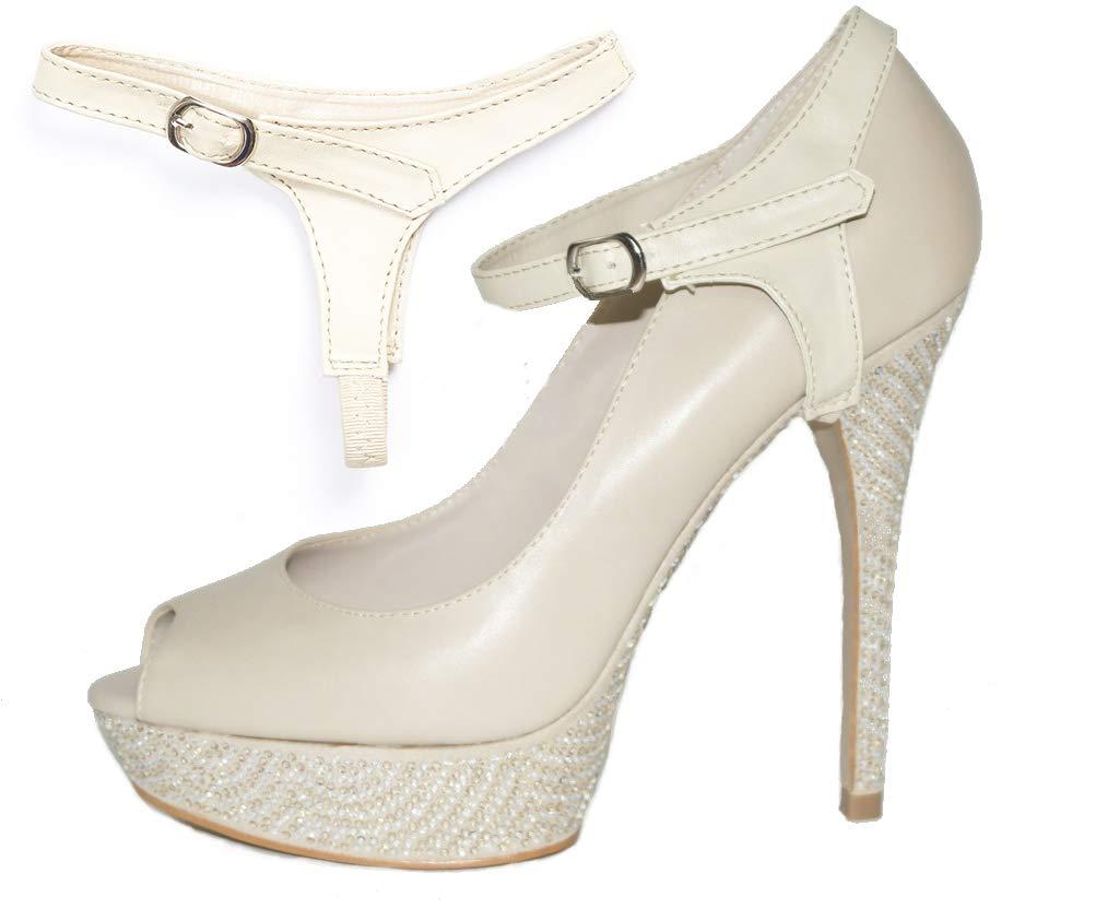 Eliza May ShooStraps Strisce Adesive Rimovibili per le Scarpe - Per non  perdere le scivolose scarpe con il tacco 08a74e4a324