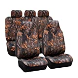 camouflage seat covers for trucks - FH Group Universal Fit Full Set Car Seat Cover, (Hunting Camouflage) (Airbag compatible and Split Bench, Fit Most Car, Truck, Suv, or Van, FH-FB111115)
