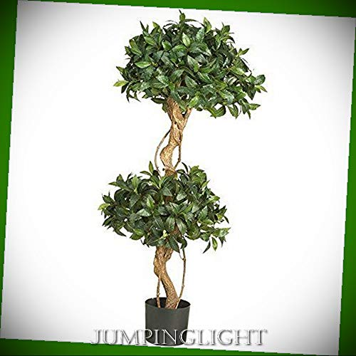 - JumpingLight 5233 4' Sweet Bay Double Ball Topiary Silk Tree Artificial Flowers Wedding Party Centerpieces Arrangements Bouquets Supplies