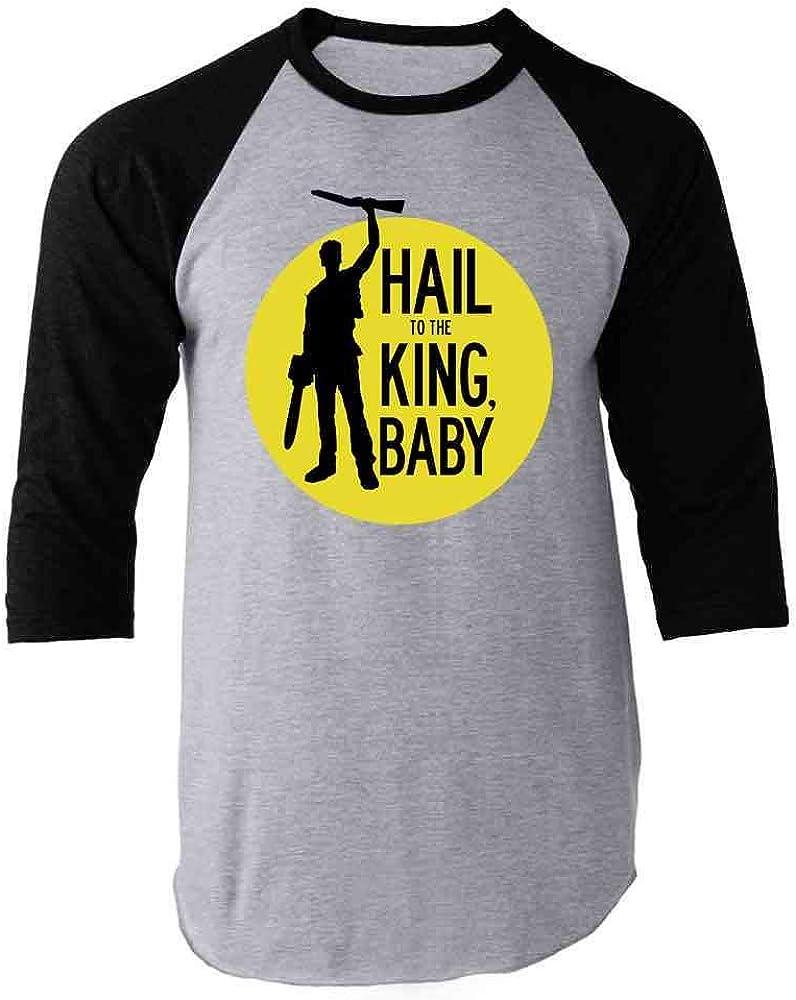 Hail To The King Baby Horror Army Zombie Baseball Shirts