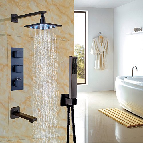 8 inches ORB shower head with led - 3
