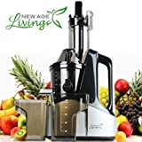 New Age Living Wide Chute Masticating Slow Juicer Machine | Best 45 RPM Cold Press Juicing Speed | Juices Whole Fruits, Vegetables, & More | Premium Quality With 5 Year Warranty review