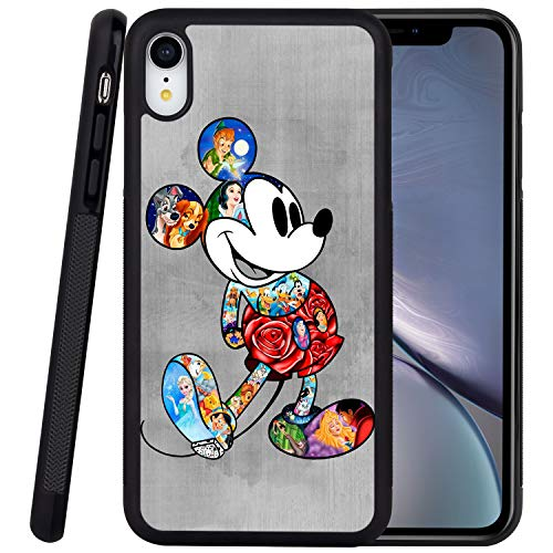 DISNEY COLLECTION Phone Case Compatible iPhone XR Case Mickey Reinforced Drop Protection Hard PC Back Flexible TPU Bumper Protective Case for iPhone XR 6.1 Inch