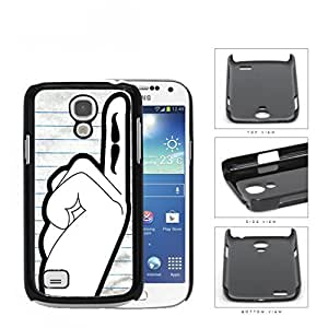 Students Hand Raised With Mustache On Finger Hard Plastic Snap On Cell Phone Case Samsung Galaxy S4 SIV Mini I9190