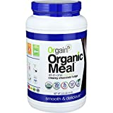 Orgain Organic Meal Powder - Creamy Chocolate Fudge - Plant Based - High Protein - 2.01 lb (Pack of 4)