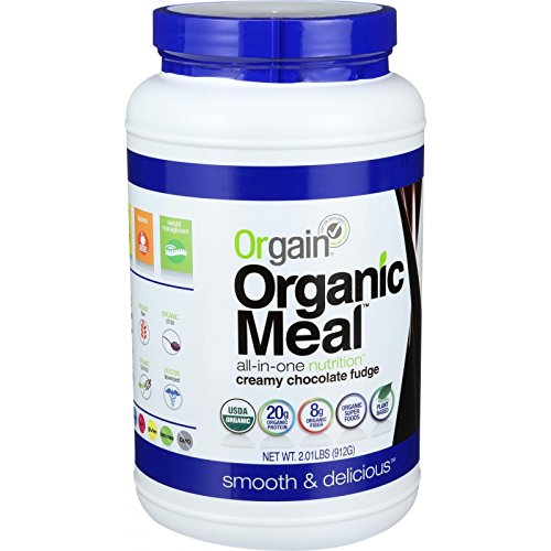 Orgain Organic Meal Powder - Creamy Chocolate Fudge - Plant Based - High Protein - 2.01 lb (Pack of 4) by Orgain