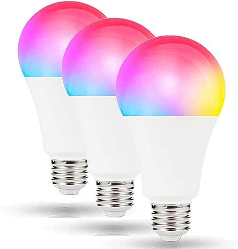 WiFi Smart Light Bulb Intelligent Colorful LED Lamp 7W RGBW APP Remote Control
