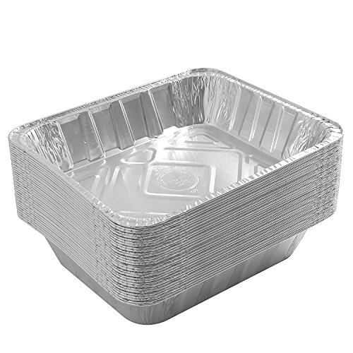 Jetfoil Aluminum Foil Steam Table Pans With Lids   Perfect for Catering, Party Supplies & Suitable for Broiling, Baking, Cakes and Pies - 9 x 13 Half size Deep   Pack of 30 by Jetfoil (Image #4)