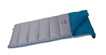 Wilsa Carnac Saco de Dormir Unisex, Carnac, Gris/Azul