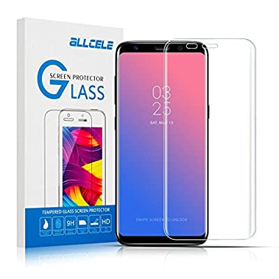Galaxy Note8 Screen Protector N8 Tempered Glass ALLCELE 3D Curved HD Clear Screen Protector Anti-Scratch Anti-Fingerprint[Case-Friendly] for Samsung Galaxy NOTE8
