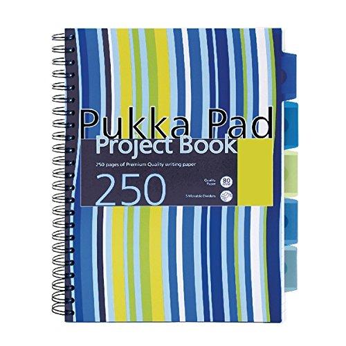 Pukka proyecto libro A4/cuaderno de rayas 250/p/áginas Pack de 3