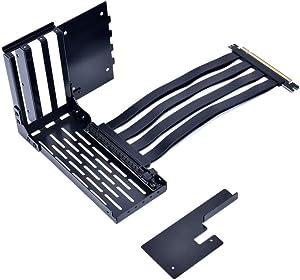LIAN LI LAN2-1X Premium PCI-E x16 3.0 Black Extender Riser Cable 200mm and Covert Bracket for LANCOOL II/LANCOOL 2 / LANCOOL Two - LAN2-1X