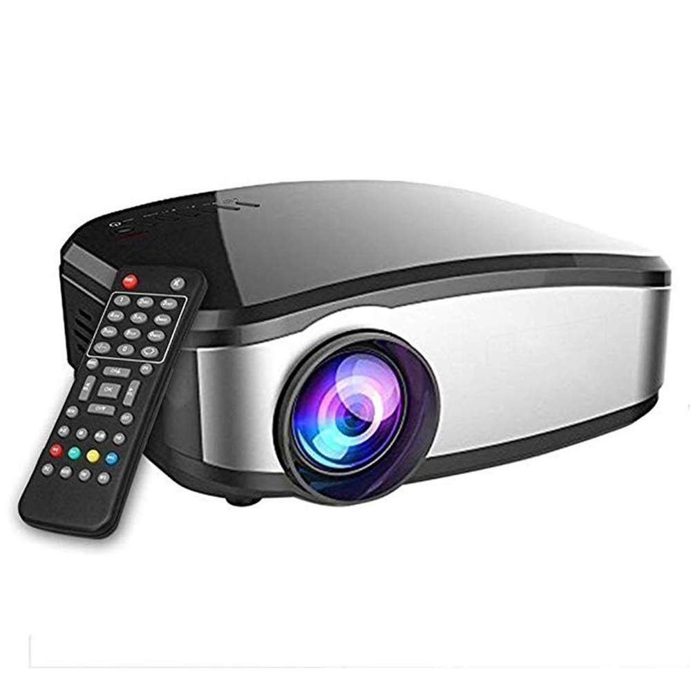 Video Projector Mini Projector Portable Movie Projector TV with HDMI USB Headphone Jack for PPT Business Presentations Home Theater Entertainment Parties Games