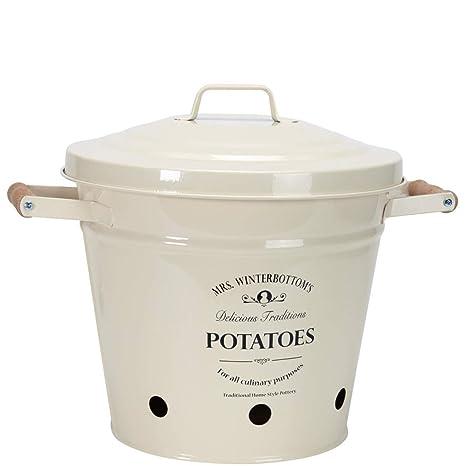 Butlers Secchio Per Patate In Zinco Design Inglese Colore Cremamr
